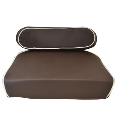 Seat Cushion - Brown & White