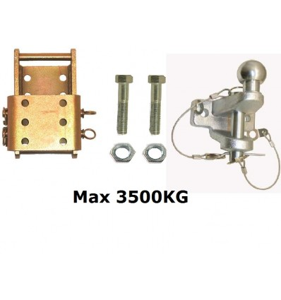 kit boule attelage 3500kg tracteur bits france. Black Bedroom Furniture Sets. Home Design Ideas