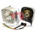 Complet grey headlight set