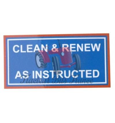"Autocollant ""Clean and Renew"" Ferguson"