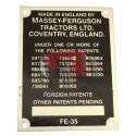 Plaque D'identification FE35 (16 numéros)