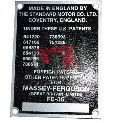 Plaque d'identification FE35 (8 numéros)