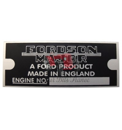 Plaque d'identification Fordson Major