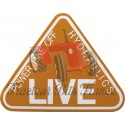 Autocollant Live Drive Orange