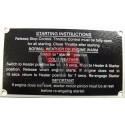 "Plaque ""Starting Instructions"" MF35"