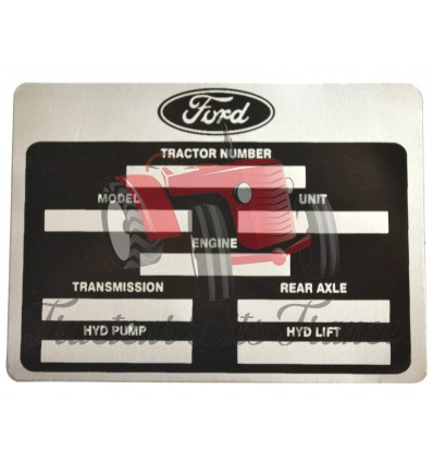 Decal Ford Tractor Identification