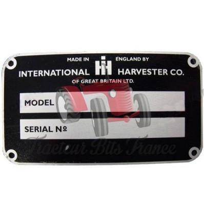 Case B series model & serial number plate