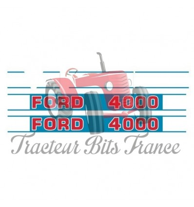 Ford 4000 Decal Set (Blue Background)